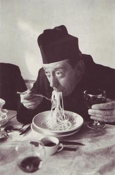 for the spaghetti we are about to receive | Fernandel as Don Camillo, 1953