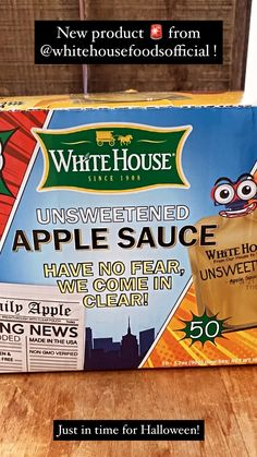 coldcoffeegrind on Instagram: New product 🚨 from @whitehousefoodsofficial! Their CLEAR, unsweetened applesauce pouches now come in a 50 pack! 🙌 They make the perfect… Unsweetened Applesauce, Fancy Nancy, Halloween Snacks, Disney Junior, School Parties, Pop Tarts, New Product, Healthy Snacks, Snack Recipes