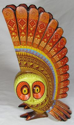 """OWL"" Solmar Imports - Mata Ortiz, Juan Quezada, Casas Grandes Pottery and Oaxacan Wood Carvings - Alebrijes, Oaxacan Animals. Folk Art, Sculpture Art, Animal Art, Animal Sculptures, Pottery, Wood Art, Owl Art, Mexican Folk Art, Bird Art"