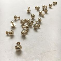 Little droplets of gold  #bagfeet #bespoke #hardware #gold #londonmakers #carv
