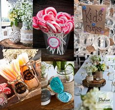 Tennessee wedding guest favors made of candy,  photographed by Knoxville wedding photography company Bledsoe Photography, featured on The Pi...