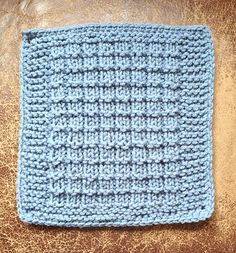 Ravelry: chitweed's Waffle (Dishcloth) Square. This pattern by Love2Knit is easy and would be a nice stitch to use for a baby blanket. Free pattern.