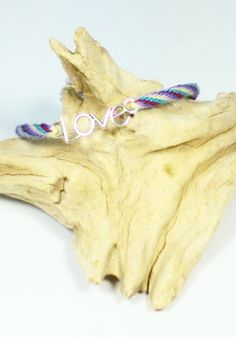 Colorful LOVE Charm Braided Bracelet, Kumihimo Bracelet, LOVE Charm Kumihimo Bracelet, Fiber Bangle, Spiral Pattern Fiber Bracelet by AbigailsPaws on Etsy $8.99