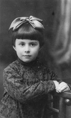 Portrait of three-year-old Anna Glinberg, a Jewish child who was later killed during the mass execution at Babi Yar.