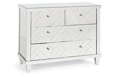 "Chevron 43"" Dresser, Antiqued Mirror"