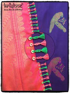Latest Silk Saree Pallu Knots from Krishne Tassels Saree Tassels Designs, Cotton Saree Designs, Saree Kuchu Designs, Latest Silk Sarees, Baby Girl Dress Patterns, Hand Embroidery Designs, Saree Dress, Silk Thread, Chiffon