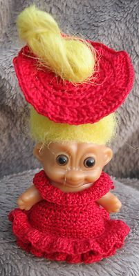 Electronics, Cars, Fashion, Collectibles, Coupons and Crochet Dolls, Knit Crochet, Crochet Hats, Doll With Hair, Scarlett Dresses, Red Hat Society, Troll Dolls, Doll Outfits, Dress Hats
