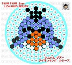 Zazu The Lion King Tsum Tsum Perler Bead Pattern