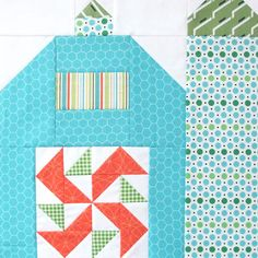 "The Quilty Barn Along...Silo Barn 3 and a ""Peas and Carrots"" block tutorial!..."