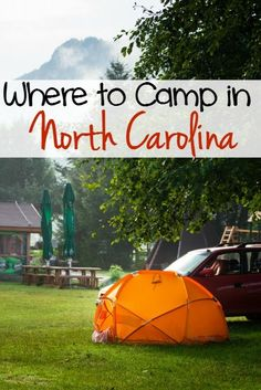 As you know, I have camped quite a bit around the US. One of my favorite places to camp is in North Carolina. You can choose from camping right on the beach and playing in the Atlantic Ocean or hiking the beautiful Smoky Mountains. North Carolina is the p Camping Bedarf, Camping Places, Camping Spots, Camping Guide, Camping Checklist, Camping World, Camping With Kids, Family Camping, Outdoor Camping