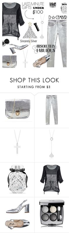 """Sincerely Silver"" by lacas ❤ liked on Polyvore featuring MANGO, Victoria's Secret, Molly Bracken, Bobbi Brown Cosmetics, An.Gi, Chanel, Marc Jacobs, under100, Holidaygifts and sincerelysilver"