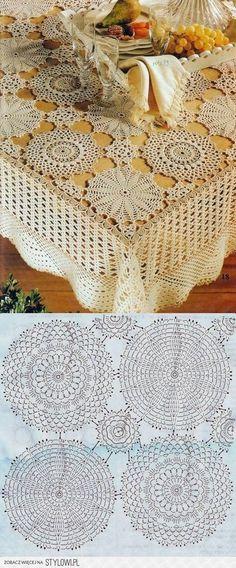 Trendy Ideas For Knitting Charts Symbols Granny Squares Crochet Doily Patterns, Crochet Mandala, Crochet Diagram, Crochet Chart, Crochet Squares, Filet Crochet, Crochet Motif, Crochet Doilies, Crochet Flowers
