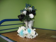 Jamie's bouquet with the little girls' bouquets.