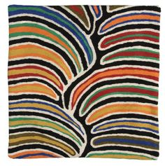 Better World Arts Cushion Cover by Betsy Lewis from Warlukurlangu Artists