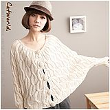 | CATWORLD | Cable Knit Pompom Buttons Cardigan