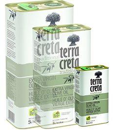 Terra Creta Extra Virgin Olive Oil 1lt Metal Tin -- More details at the link of image at baking desserts recipes board