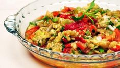 Barbecue cottage cheese salad with a jello mold made from lemon jello, tomato sauce, vinegar and a dash of pepper. Barbecue Salad Recipes, Chicken Salad Recipes, Turkish Salad, Cottage Cheese Salad, Chili, Eggplant Salad, Cooking Tomatoes, Middle Eastern Recipes, Fried Rice