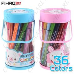 I have to buy these, I found one, one time and wrote that thing into the ground, never new what it was called or where it had come from: http://www.chaarly.com/pens-pencils/58395-aihao-36pcs-36-colors-water-color-pens-art-painting-drawing-pens-markers-stationery-for-children-kids.html