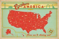 Explore America Canvas Print #ADG93