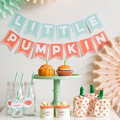 Update the standard Halloween scheme + lighten things up with turquoise + peach.                                                                                                                                                      More
