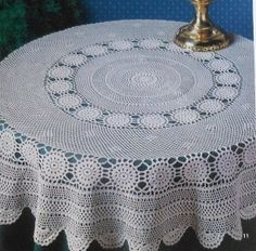 Free Easy Crochet Tablecloth Patterns For Beginners : free crochet vintage table cloth patterns ROUND CROCHET ...