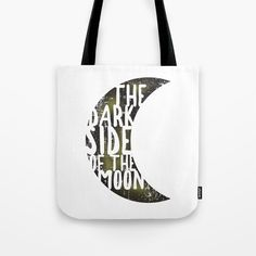 Tote bag - Pink Floyd - The dark side of the moon typography. G Man, Pink Floyd, Dark Side, The Darkest, Shopping Bag, Typography, Reusable Tote Bags, Moon, Music