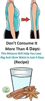 This article includes a mixture that will help you transform your body and lose even 4 kilograms in only 4 days! We all know that obesity is nowadays the greatest concern for many people. Diet Drinks, Healthy Drinks, Beverages, Loose Weight, How To Lose Weight Fast, Losing Weight, Healthy Diet Tips, Lose Body Fat, Weight Loss Drinks
