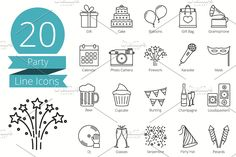 20 Party Line Icons - Icons