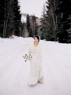 Photography: Brumley And Wells - brumleyandwells.com  Read More: http://www.stylemepretty.com/2014/11/04/elegant-winter-wedding-in-vail-at-the-sebastian/