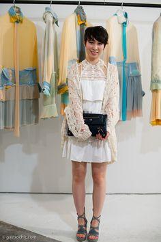 White Lace Dress, Parsons MFA Exhibit. Super cute.