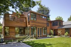 Palo Alto Green Point Rated House contemporary exterior - by Cathy Schwabe Architecture - houzz.com