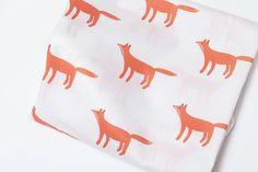 Fox Pattern Print Fabric