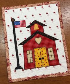 Looking for your next project? You're going to love Schoolhouse Mug Rug by designer 2strings.