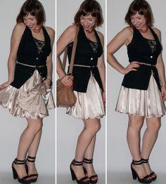 Luta do Dia: saia de cetim para o dia e a noite  http://lucianalevy.com.br/look-dia-como-usar-saia-rodada-blog-moda/