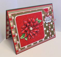 Scrappy Sweet Creations: Poinsettia Wishes