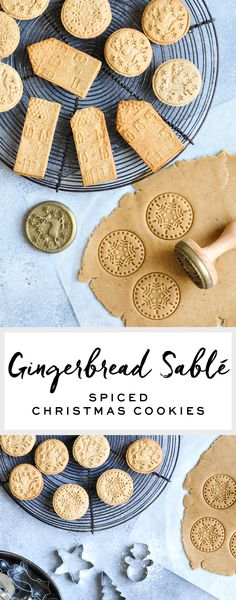 Gingerbread Sablé | Spiced Christmas Cookies #christmascookies #speculoos #sable #cookies #gingerbread #gingerbreadcookie