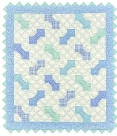 Stash Busters for Baby Quilts - Blue bowties quilt from The Big Book of Baby Quilts