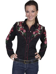 7802202a07 Scully Western Colorful Floral Shirt AT COWGIRL BLONDIE S DUMB BLONDE  BOUTIQUE Tejanos Mujer
