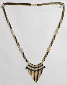 Black and White Stone Studded Mangalsutra $18.00 only
