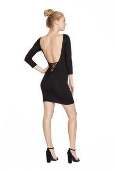 Black Ozma Dress. Clayton 2016 Resort Collection.