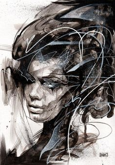 Portrait Painting | Abstract Portraits painting from another dimension by Danny O'Connor ...