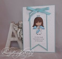 Angela Lorenz - Crazy Crafters Blog Hop September - Holiday Catalogue, Christmas Cutie Pies, Ornate Tag Topper Punch, Triple Banner Punch, Softly Falling TIEF, Stampin Up