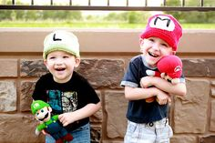 Show some love for your favorite games on National Video Games Day! Try these cool Super Mario Bros Mario & Luigi hats with Lion Brand Vanna's Choice!