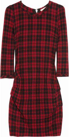 Georget Wool-blend Tartan Dress