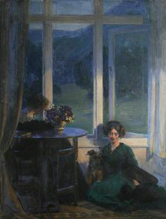 """""""A Truce"""" (1912) by Sir Frank Bramley (1857-1915)."""