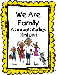 First Grade Wow: Me and My Family FREE mini unit