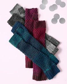 Textured Ombre Fingerless Gloves - Garnet Hill