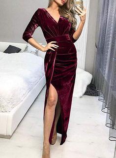Rouge Velours Tissu 2-Way Stretch Craft Glitter Velours Robe Matériau