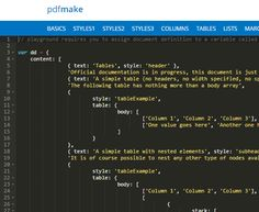 pdfmake is a client and/or server side PDF printing script in pure JavaScript you can use to create PDF files with Javascript for free. Design Web, Header, Definitions, Goodies, Pdf, Create, Sweet Like Candy, Good Stocking Stuffers, Web Design