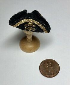 "1:12 Miniature Dollhouse BROWN TRICORN HAT 6"" Phicen Action Figure Pirate Doll"